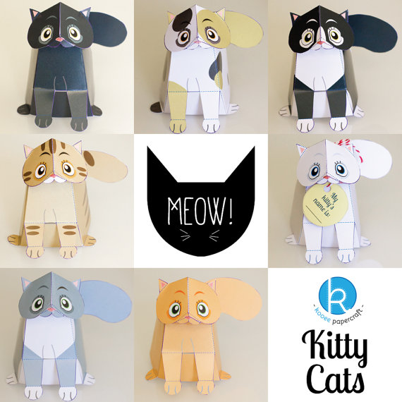 DIY  Kitty Cats Paper Craft Kit - $5.11