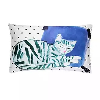 silk cat nap decorative pillow by Kate Spade - $90.00