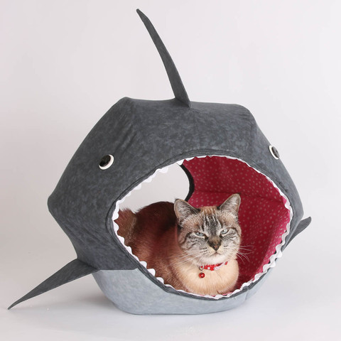 Great White Shark Cat Ball Kitty Bed - $99.00