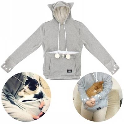 Mewgaroo Hoodie Pet Pouch Sweatshirt - $127.00