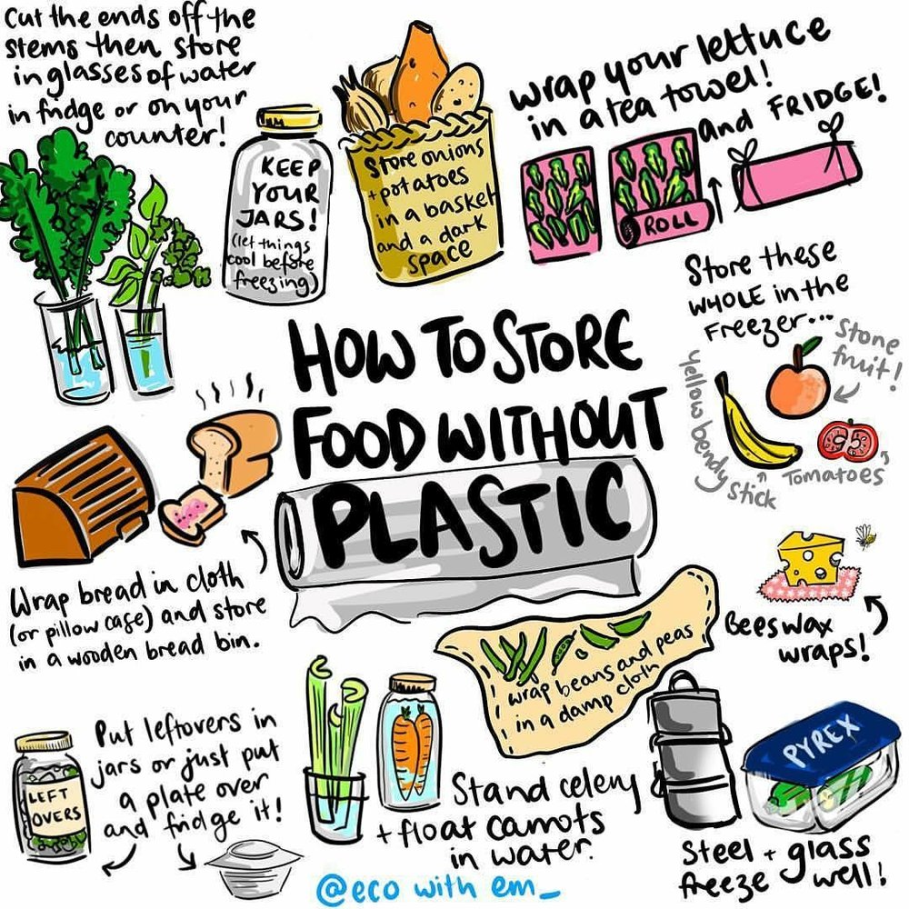Just a few of the smart ways on how to store food without using plastic