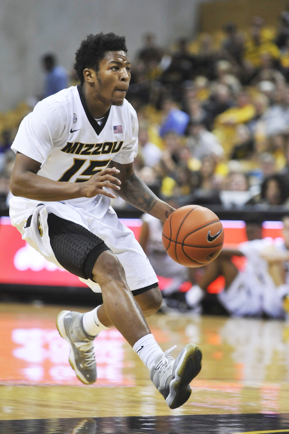 Mizzou's Wes Clark drives the ball down the court during their game against Maryland-Eastern Shore on Sunday, November 15, 2015 at Mizzou Arena. Missouri won 73-55.