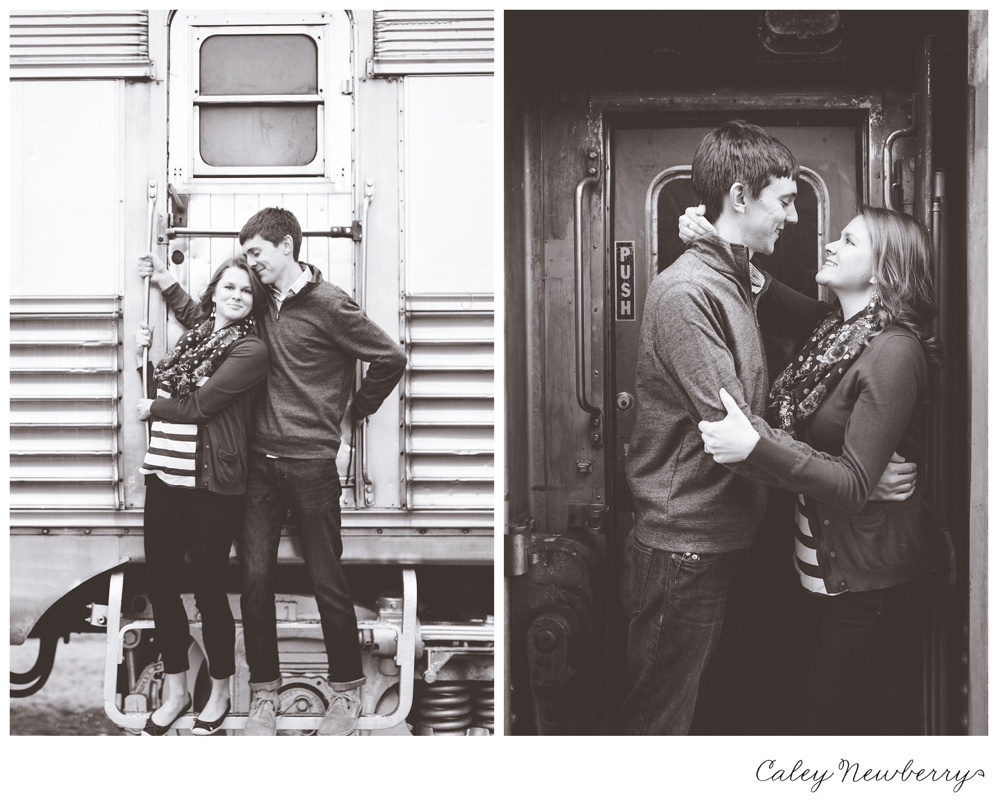engagement session in jackson, tennessee, jackson tn photographer, jackson tn wedding photographer, train station engagement photography