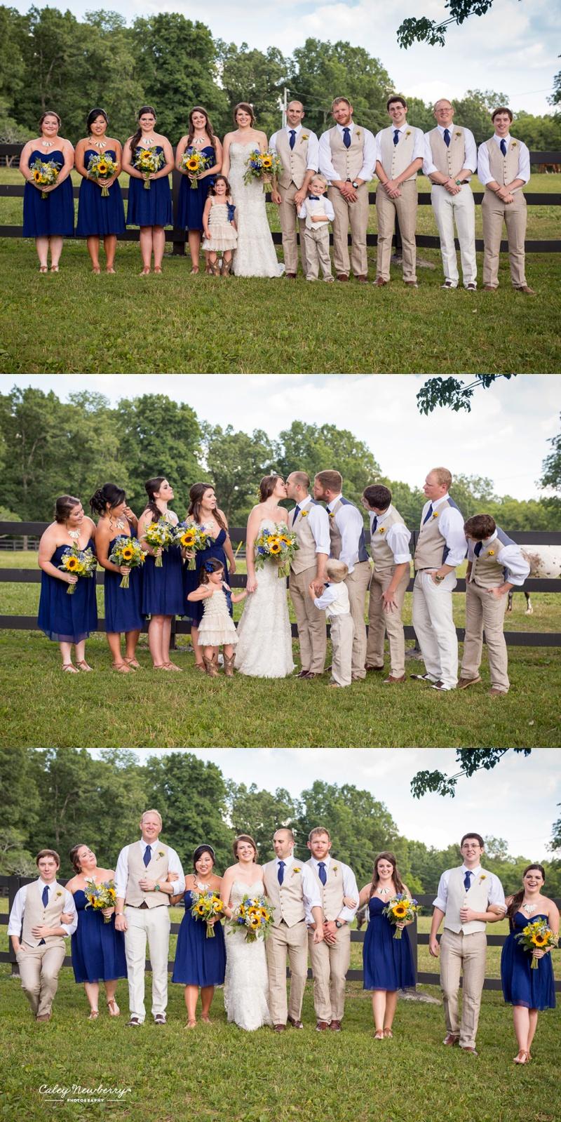 terian farms wedding party photos