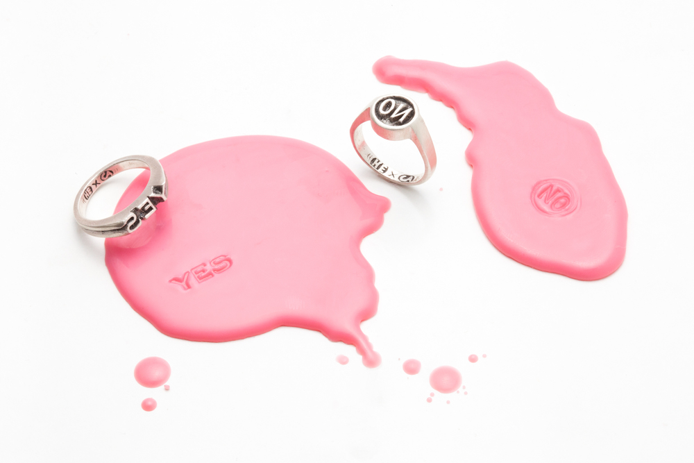 YES / NO IMPRINT RINGS by Honor Eastly & Corin Adams