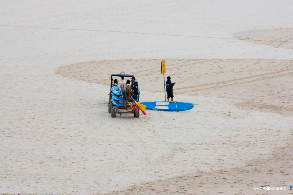 Deano  &  Mario  setting up the beach. (09.04.2015) (To see them from up-close, click on their names)