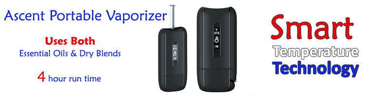 Ascent Portable Vaporizer - dual vape, uses both dry herb and liquids