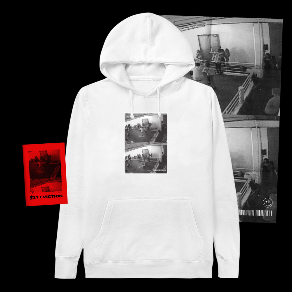 21 Eviction Package – White Hoodie SOLD OUT