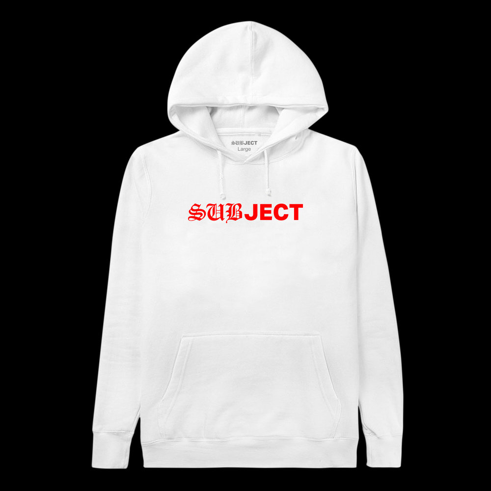 Blackletter Hoodie - White/Red (Sold Out)