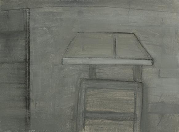 """TABLESAW, 2014, acrylic on canvas, 12 x 16"""""""