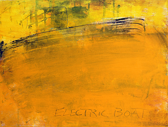 ELECTRIC BOAT, 2014, acrylic on canvas, 12 x 16""