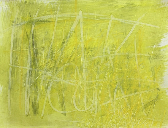 """TAKE HEART - ANN, 2012, acrylic and charcoal on paper, 20 x 26"""""""