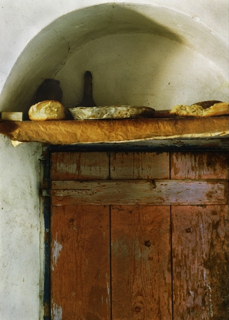 Dimitri's Farm/bread shelf, 1998-2015, archival digital print, 13.5 x 9.75""