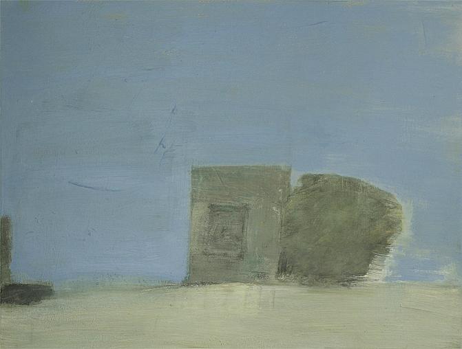 "House and Relationship II, 2016, acrylic on canvas, 24 x 32"""
