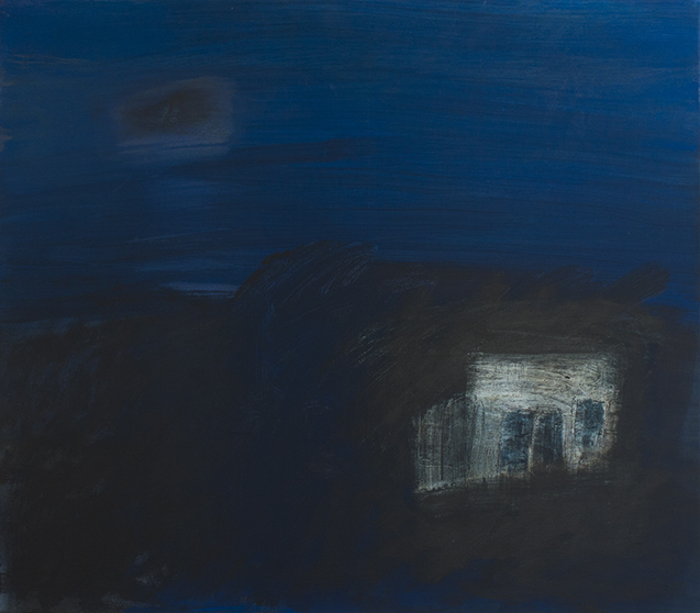 "Night Vision, 2017, acrylic on canvas, 28 X 32"""
