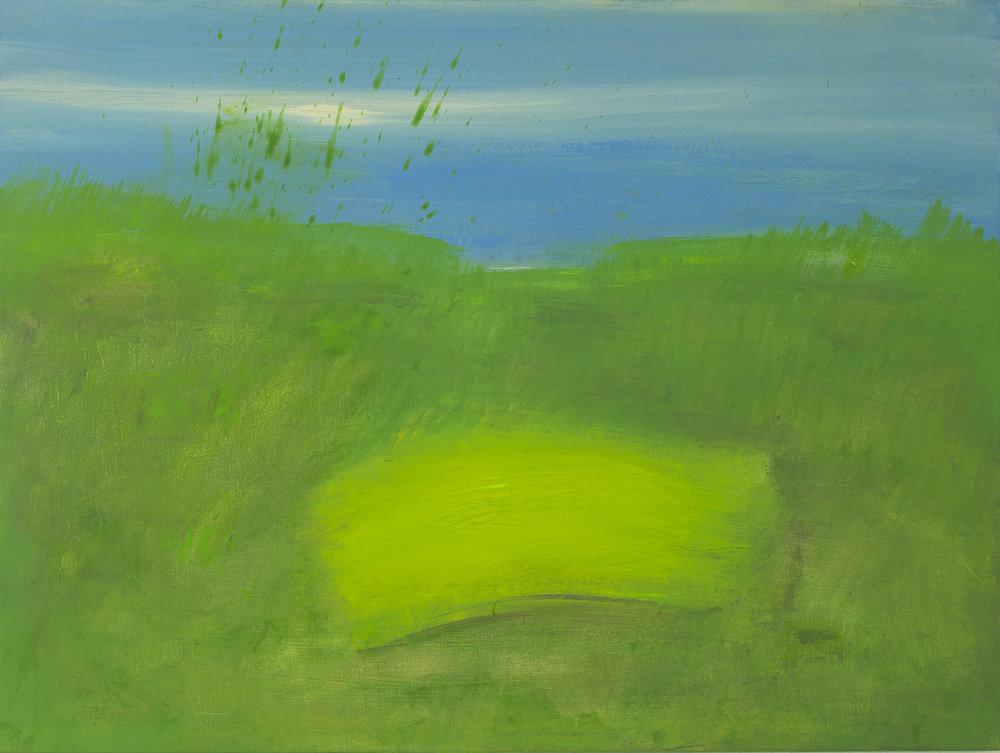 Yellow Field, 2018, acrylic on canvas, 23.5 x 31.5