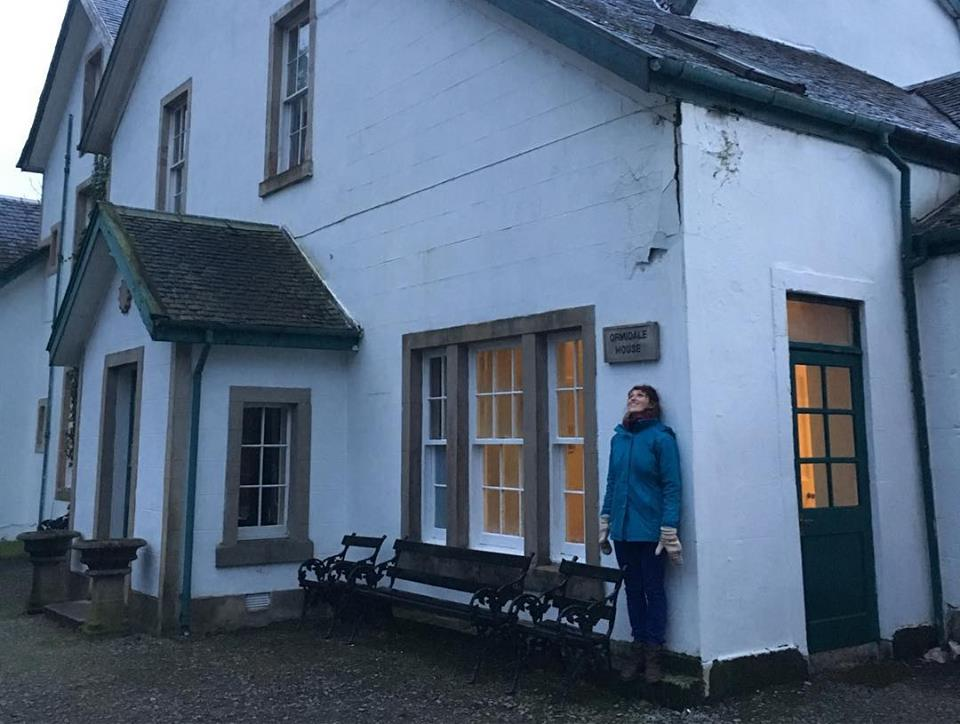 """Ruxy at Ormidale House at SURGE's Established Artist Residency with Sarah Rose Graber (not pictured) to develop """"Two in a Barrel"""""""