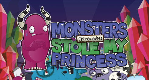 Monsters (Probably) Stole my Princess - available on Playstation Mini
