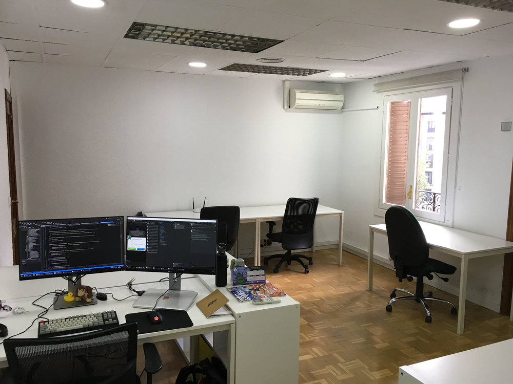 The first Madrid office waiting for new starters to spawn