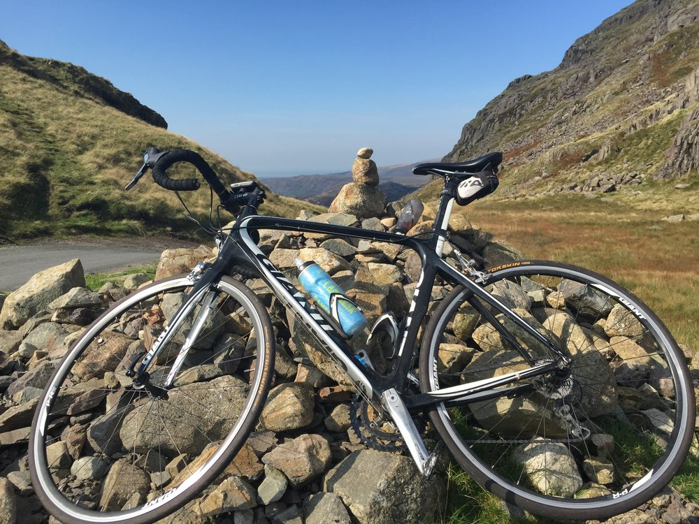The top of Hardknott Pass...the name says it all!