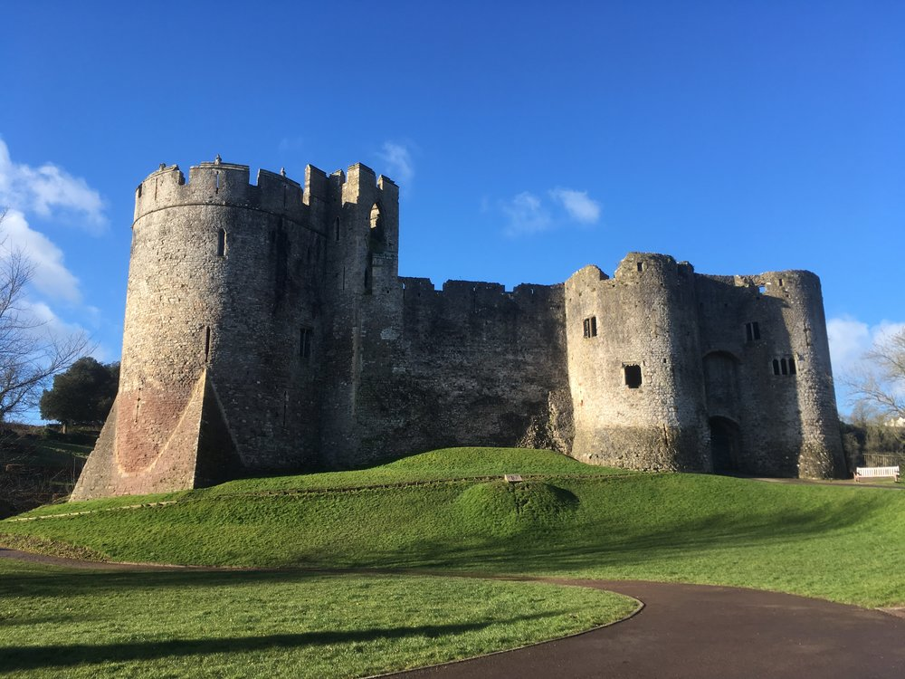 Chepstow Castle's grand entrance