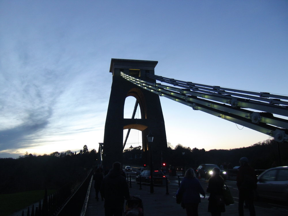 Clifton Suspension Bridge at dusk, still hugely important after 150 years