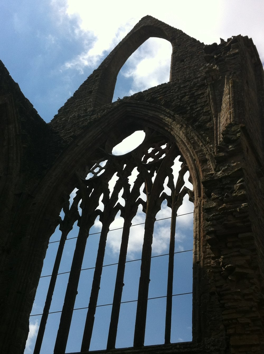 The imposing ruins of Tintern Abbey,