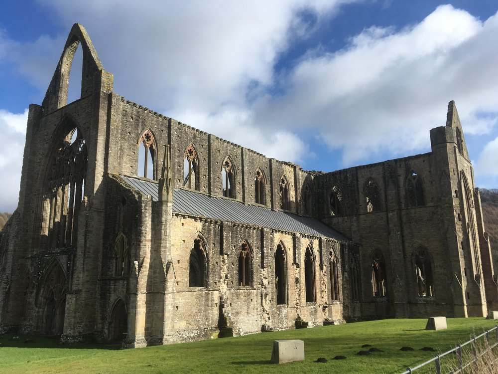 Tintern Abbey, a great venue for a lunch stop