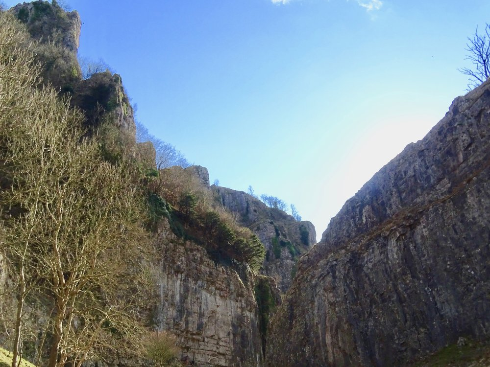 The towering cliffs of Cheddar Gorge