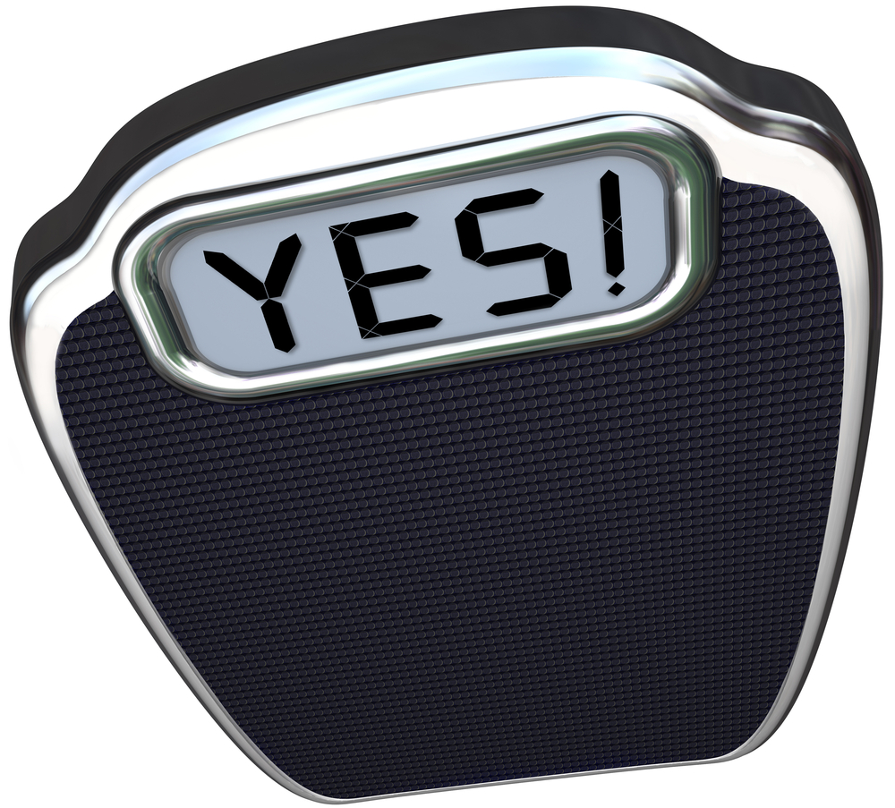 Weighing scales saying yes shutterstock_127148471.jpg