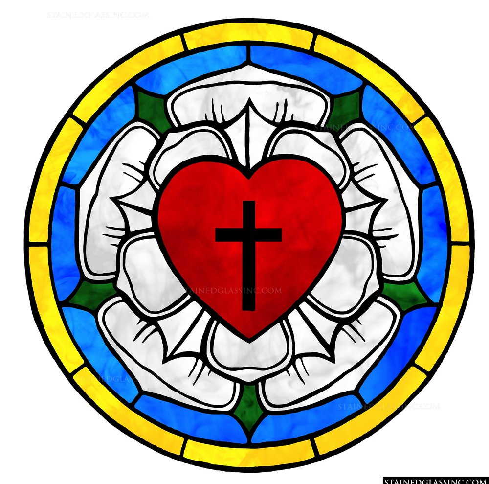 The Lutheran symbol - reproduced from https://stainedglassinc.com