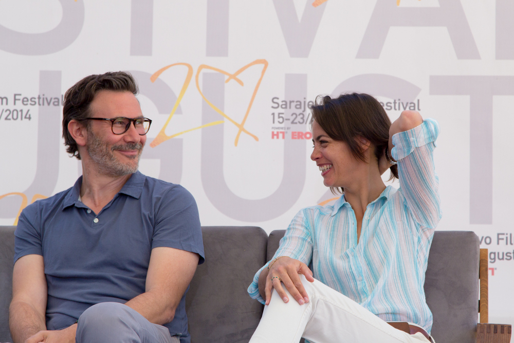 Michel Hazanavicius and Berenice Bejo. Photo by Erinc Salor