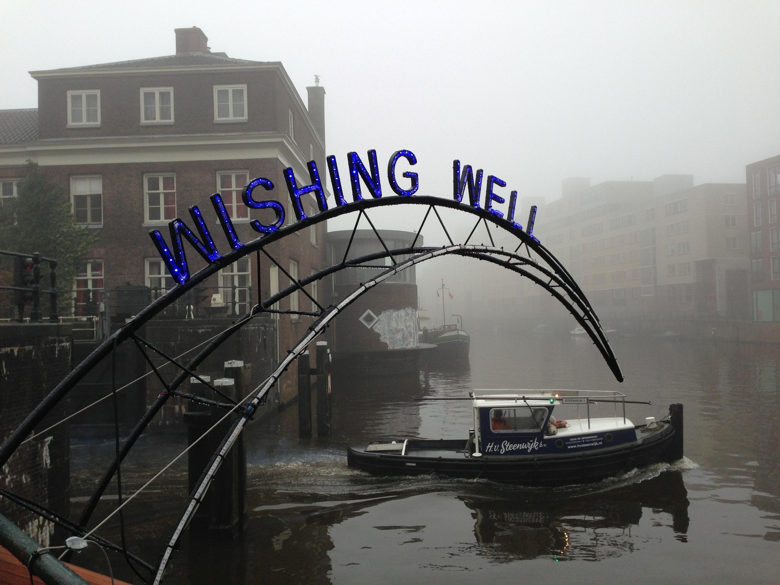 Amsterdam, Wishing Well, une installation du festival de lumières