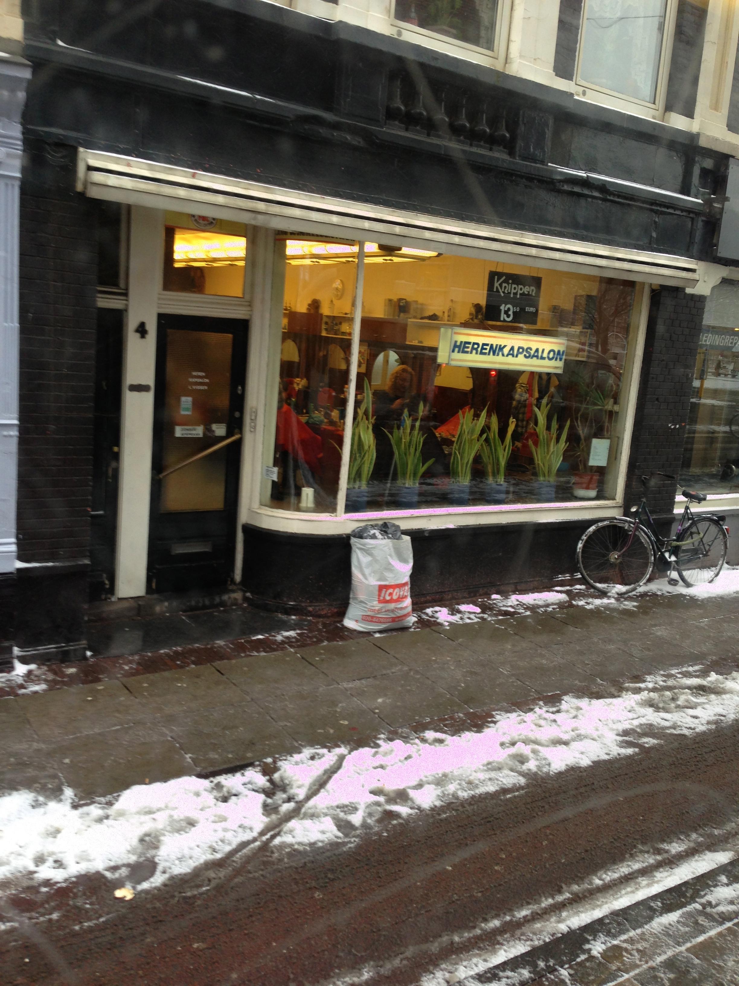 Amsterdam sous la neige