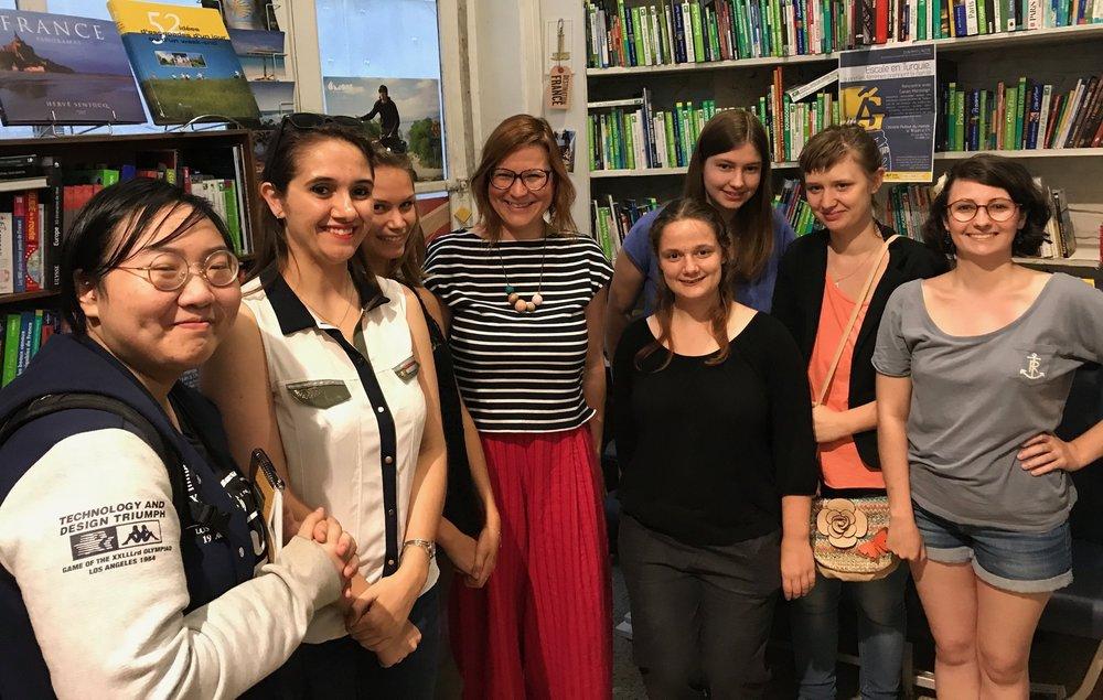 Avec les étudiantes de l'IUT Tourcoing, juin 2017.