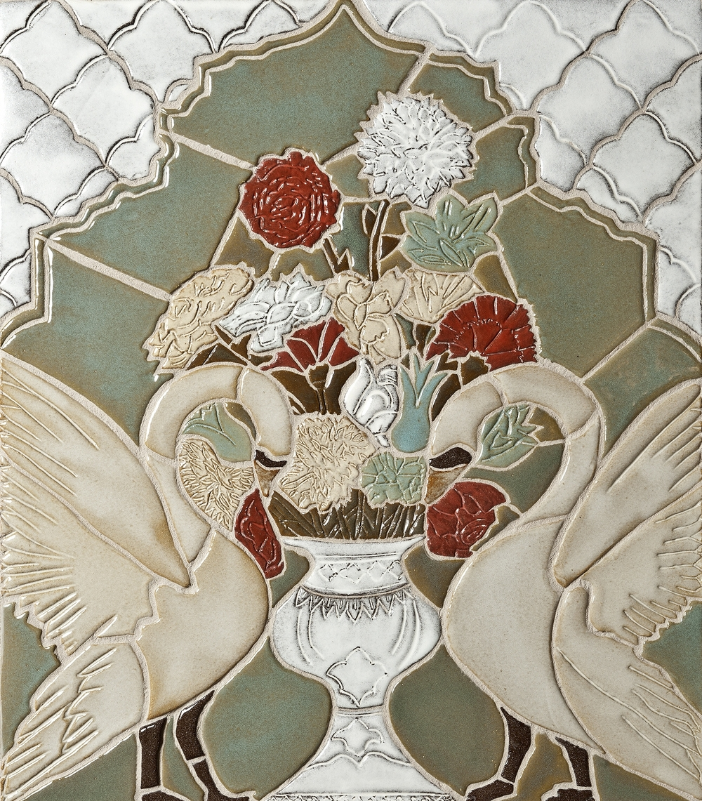 swan and vase