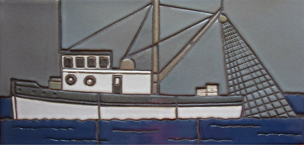 "Fishing Boat 9""x 18"""