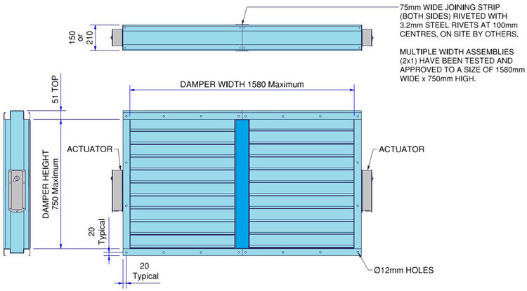 A60 Marine Fire Damper with electrical actuator - IOM Instructions ...