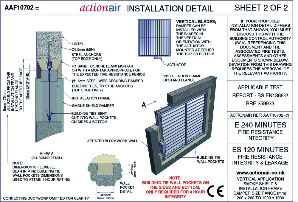 Actionair fire and smoke damper installation manual swegon air 10702 c sheet 2 of 2g asfbconference2016 Image collections