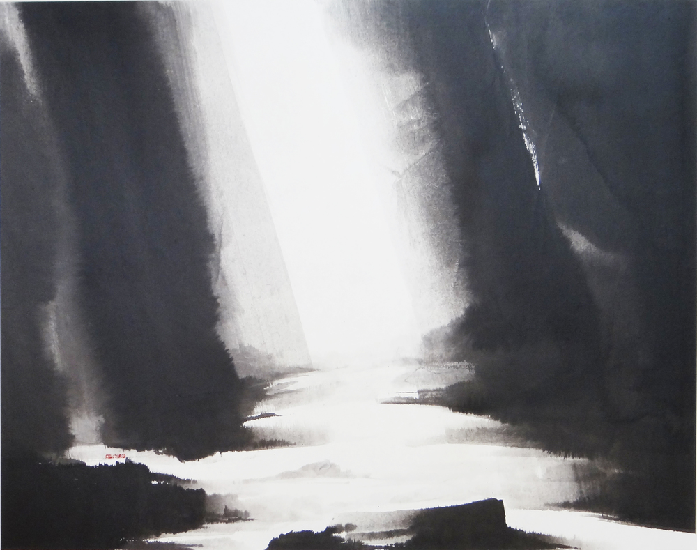 g. Again in His Light, 126X160cm, ink on paper, 2011.jpg