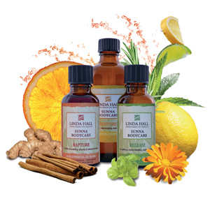 Sunna Bodycare Natural Aromatherapy Product Collection from Linda Hall