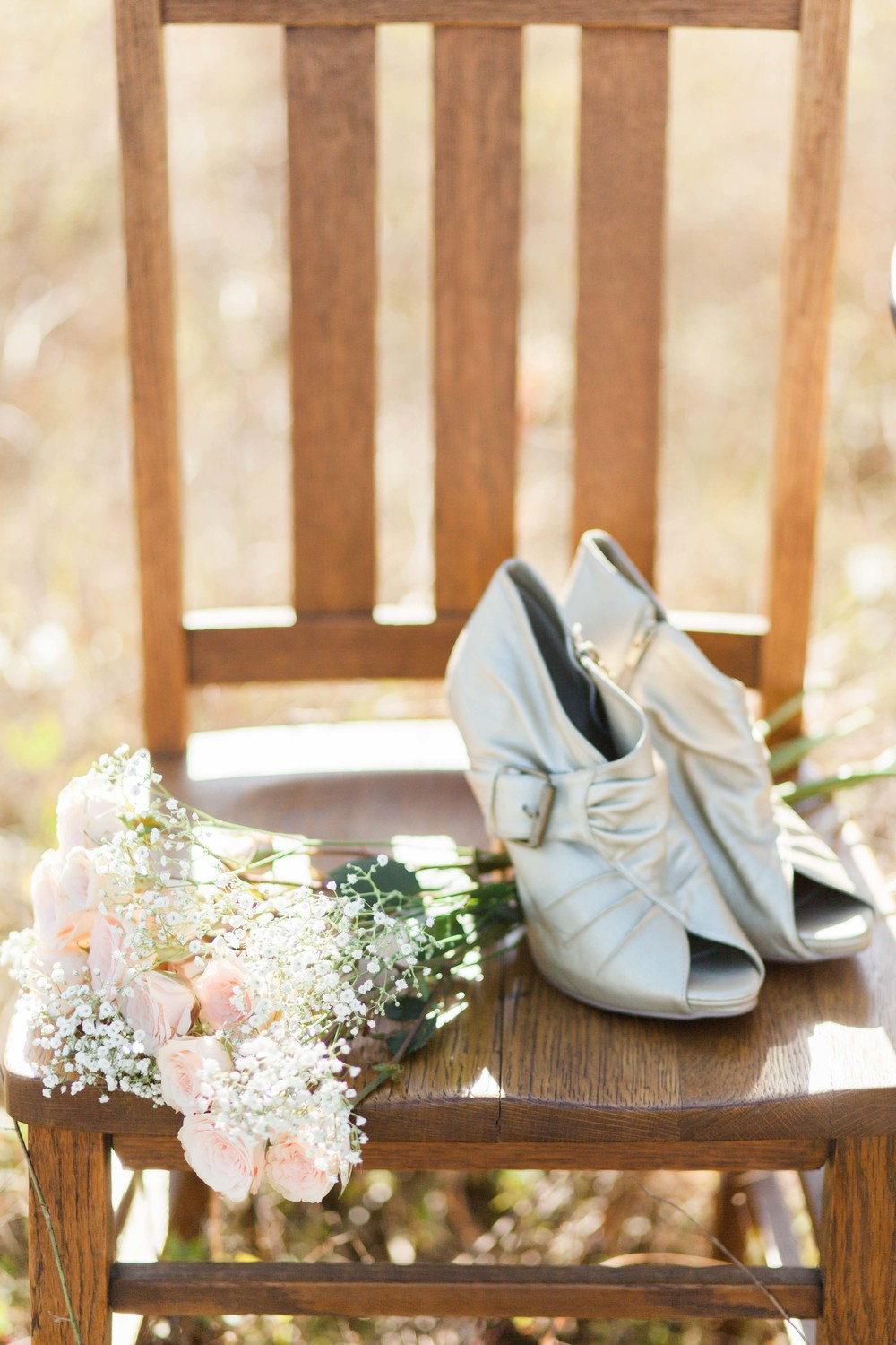 Shoes and Bouquet in Viera Florida | Michelle Mock Photography