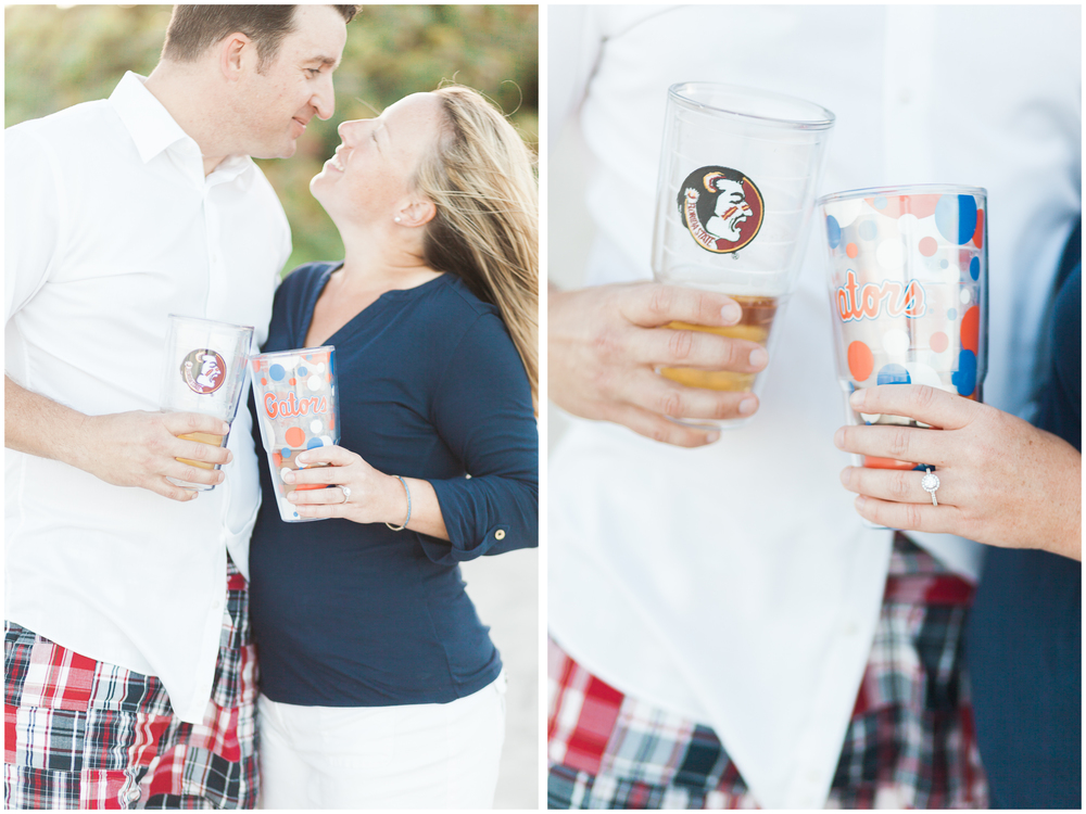 UF and FSU Engagement Session | Pelican Beach Park, Melbourne, Florida | Michelle Mock Photography