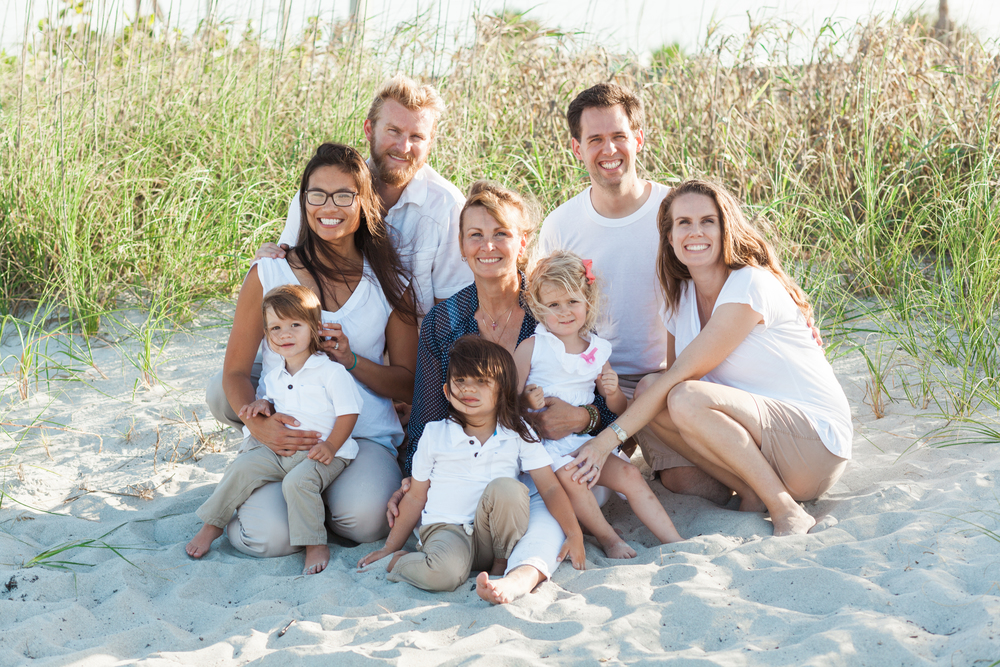 Family Beach Poses | Melbourne, Florida | Michelle Mock Photography
