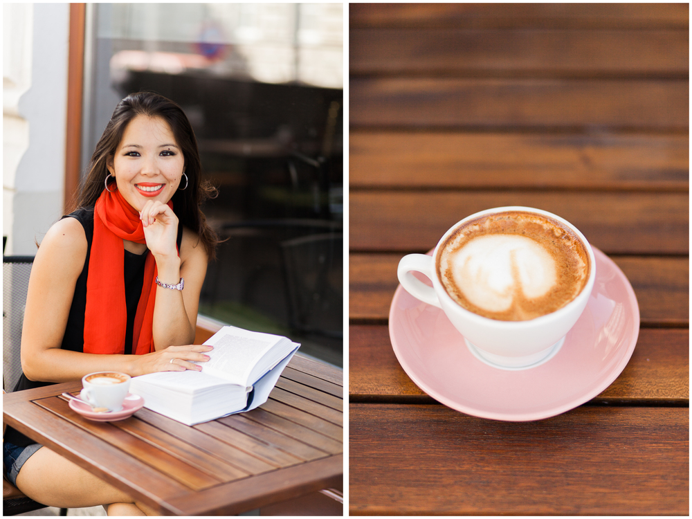 Relaxed Female Portrait Session at a Cafe | Vienna, Austria | Michelle Mock Photography