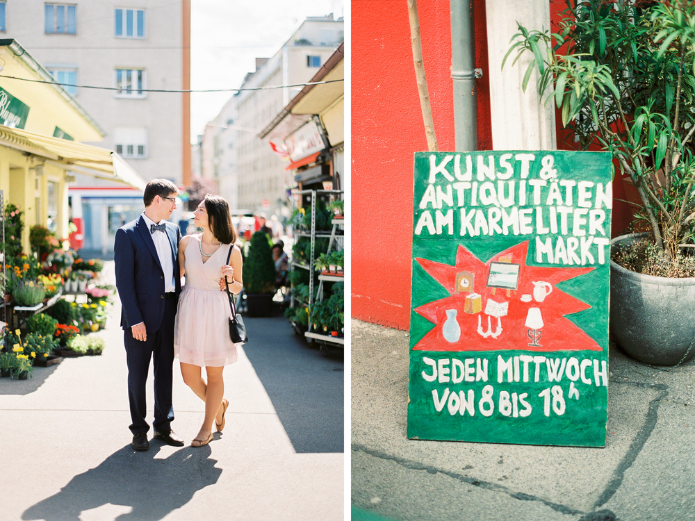 Karmelitermarkt | Vienna, Austria | Wedding Portraits | Michelle Mock Photography