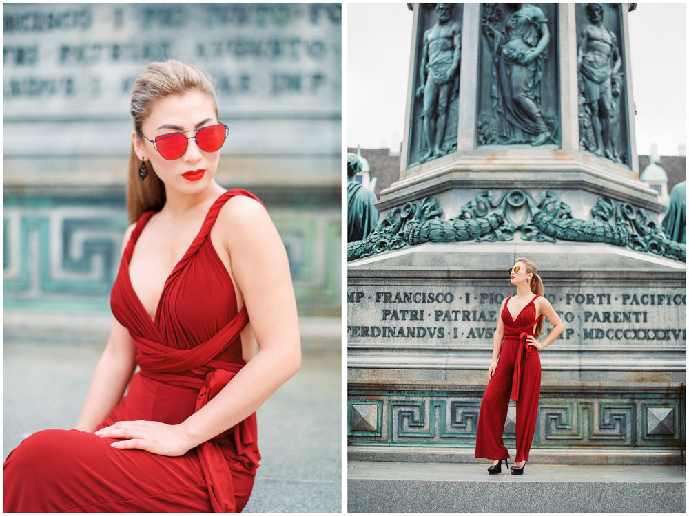 Fashion Portrait | Hofburg Palace, Vienna | Michelle Mock Photography | Vienna Portrait Photographer | Vienna Film Photographer | Contax 645 | Fuji400