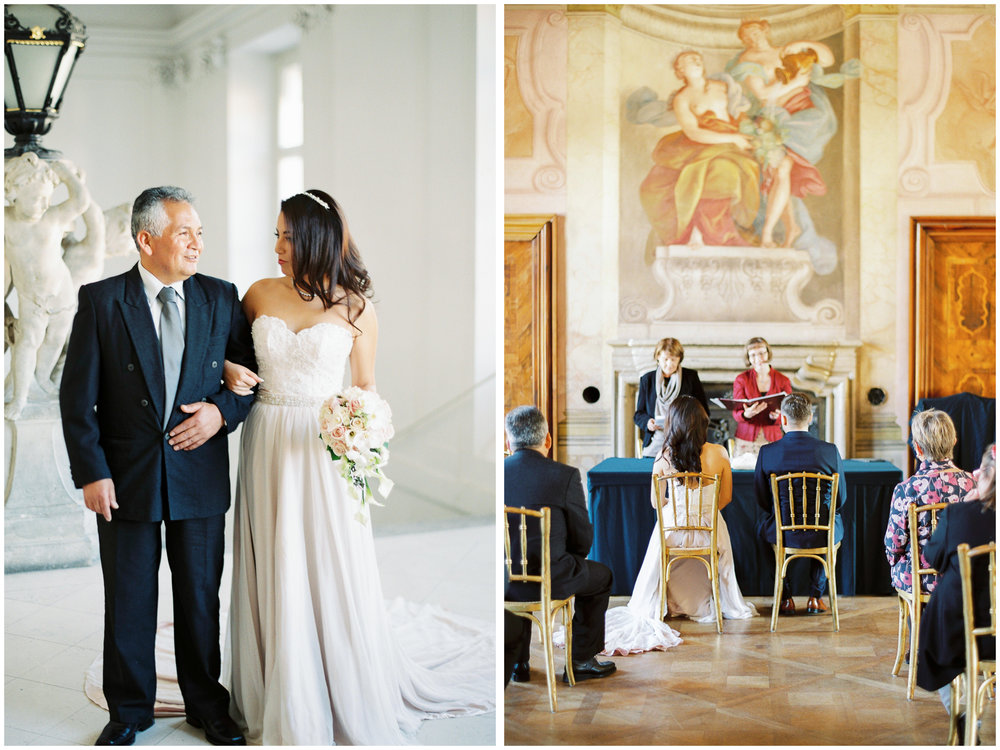 Vienna Wedding | Schloss Hetzendorf, Vienna, Austria | Michelle Mock Photography | Vienna Wedding Photographer | Vienna Film Photographer | Contax 645 | Fuji400H