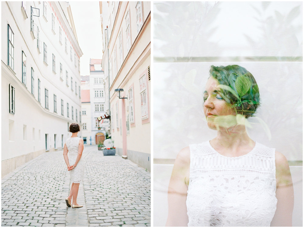 Double Exposure Blogger Portraits | Stephansplatz, Vienna | Michelle Mock Photography | Vienna Photographer | Canon 1V | Fuji400H
