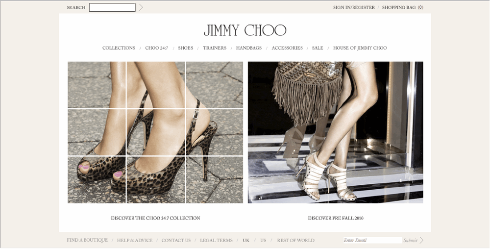 Jimmy Choo Website